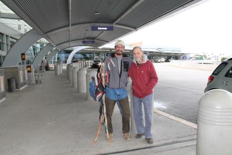 Mark and Tom at Tucson International Airport - Homeward Bound!